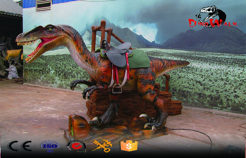 hot sale animatronic Dinosaur Rides velociraptor ride for amusement park