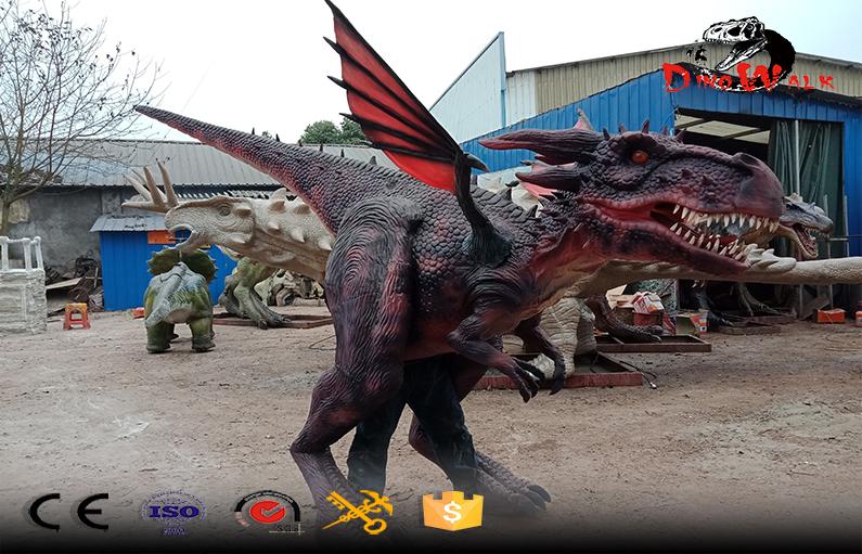 new design walking animatronic dragon costume