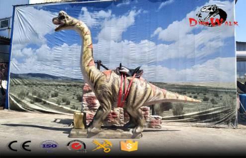 coin-operated animatronic brachiosaurus dinosaur rides