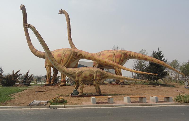 30m long huge Omeisaurus dinosaur model artificial dinosaur for parks