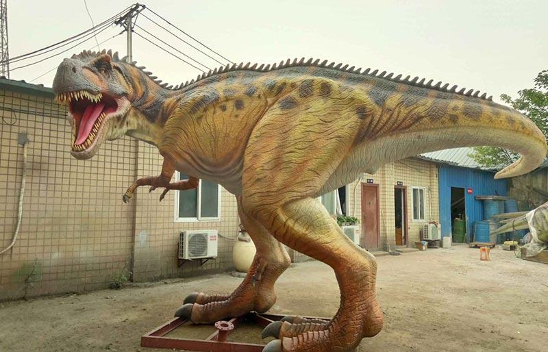 jurassic park  realistic Life Size animatronic Carnotaurus robotic dinosaur