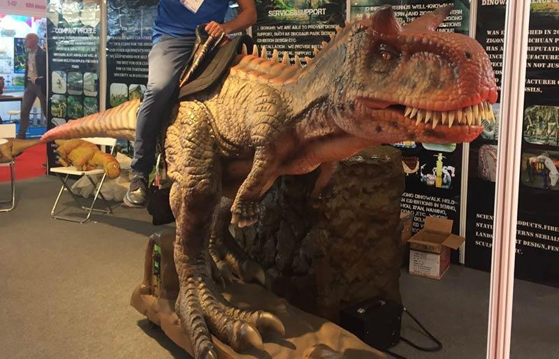 Kids Amusement Park Dinosaur Ride Coin Operated Games