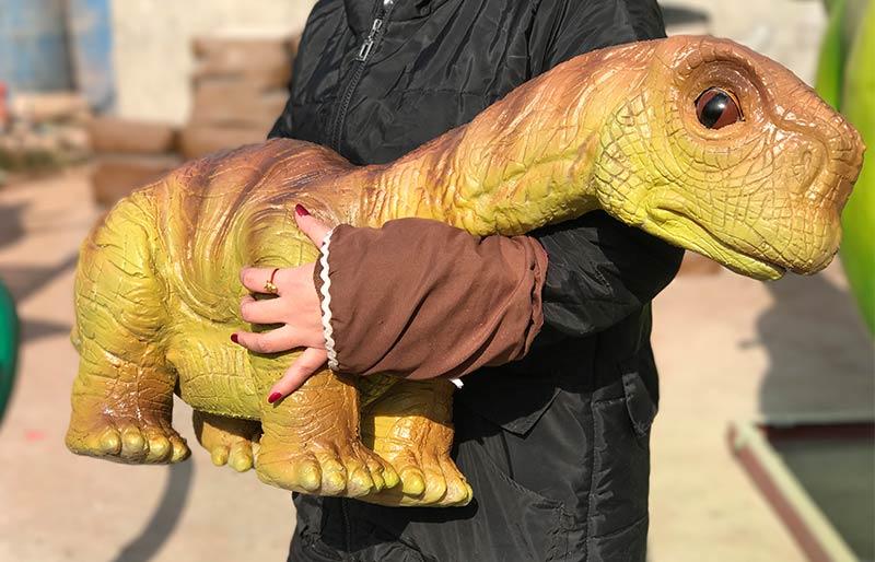 hand operated baby dinosaur puppet Spinosaurus model