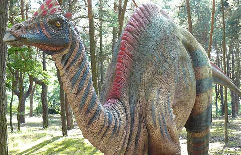 art style customized dinosaur outdoor statue, life size simulation