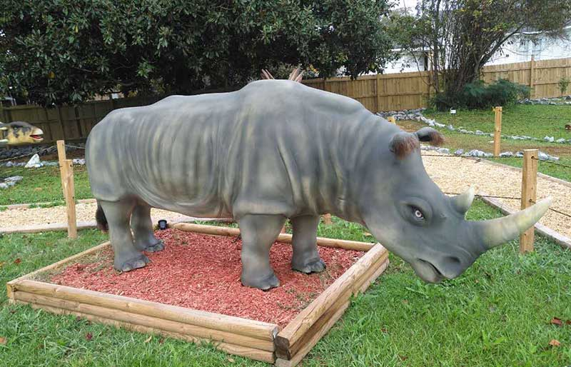 Animatronic Animals life size rhinoceros models for zoo