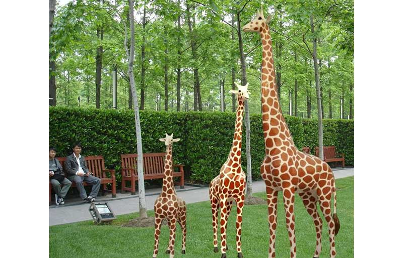 Fiberglass Animals series, 1/1 giraffe life size model