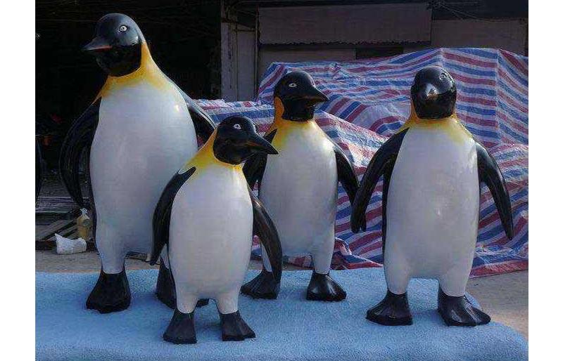 Fiberglass Animals series, cute penguin statue