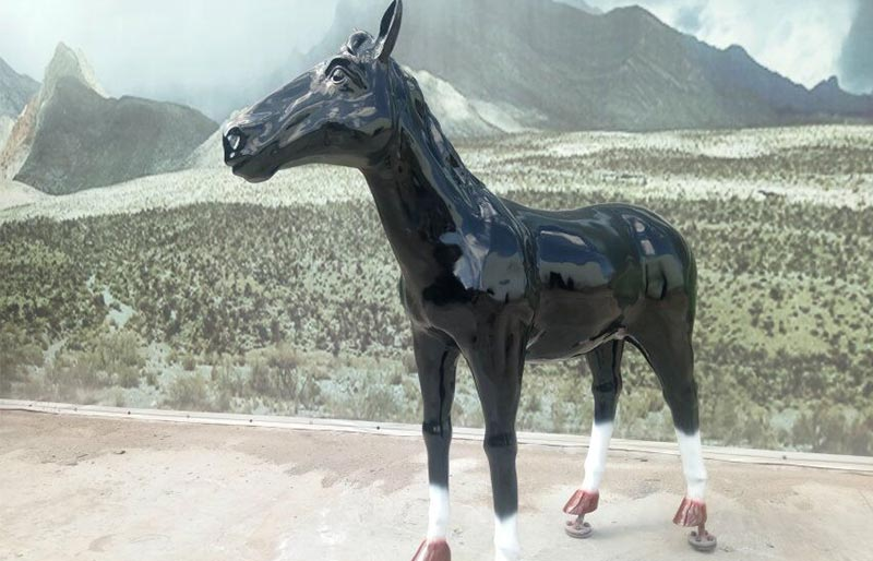 Fiberglass Animals series,black fiberglass horse