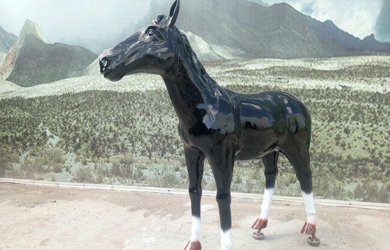 Fiberglass Animals series,black fiberglass horse