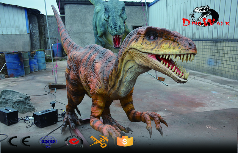 Animatronic Dinosaur simulation raptor model