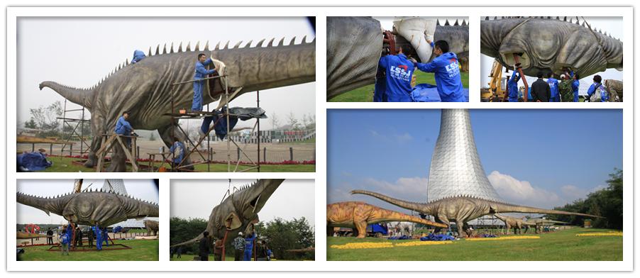 Dinosaurs installation