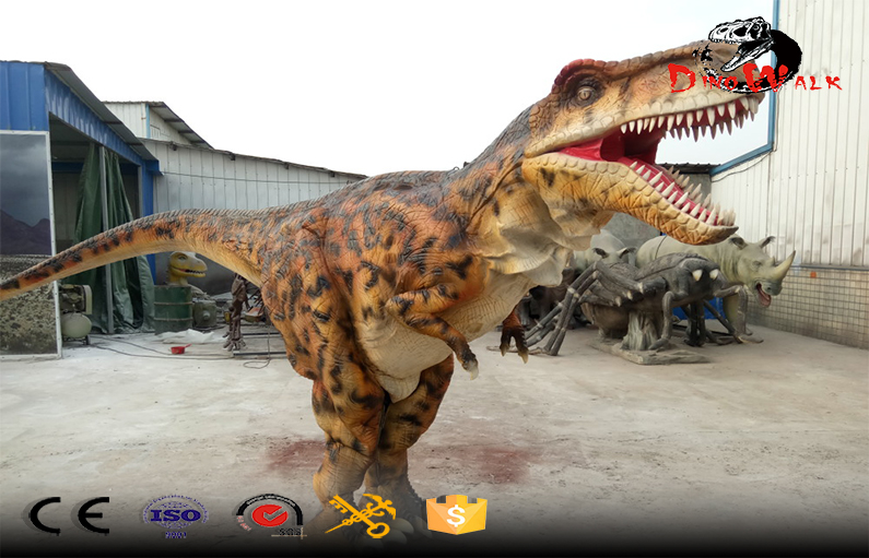 Amazing Realistic Hand Operated hidden legs Dinosaur Costume