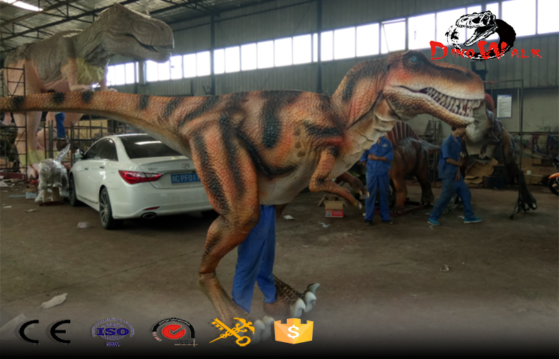 Amusement Park Realistic Walking Life Size Dinosaur Costume with best price