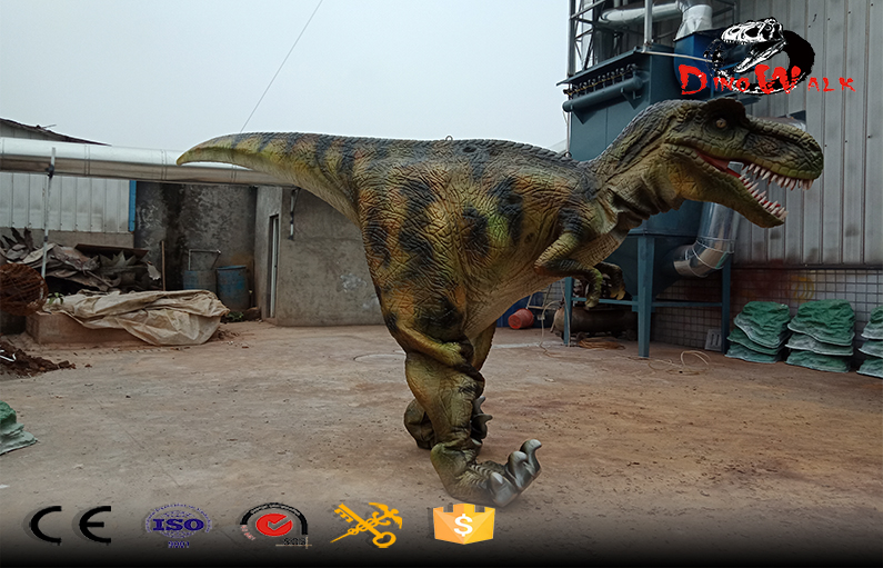 Animatronic walking adult realistic dinosaur costume for sale