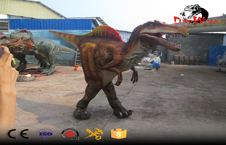 Best selling hidden legs animatronic dinosaur costume realistic Spinosaurus suit
