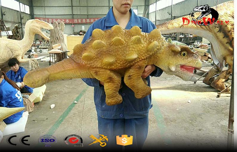 Animatronics realistic baby dinosaur hand puppet
