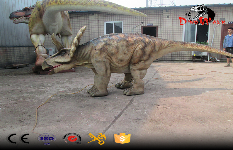 Realistic Hidden Legs Walking Animatronic Dinosaur Triceratops Costume