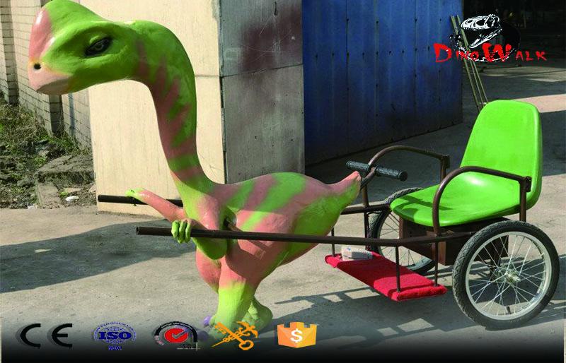 Kids Amusement Park Dinosaur Jinrikisha Coin Operated Games