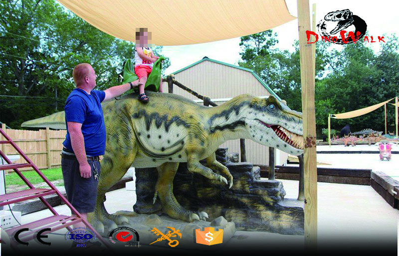 Amusement park T-Rex dinosaur ride for entertainment