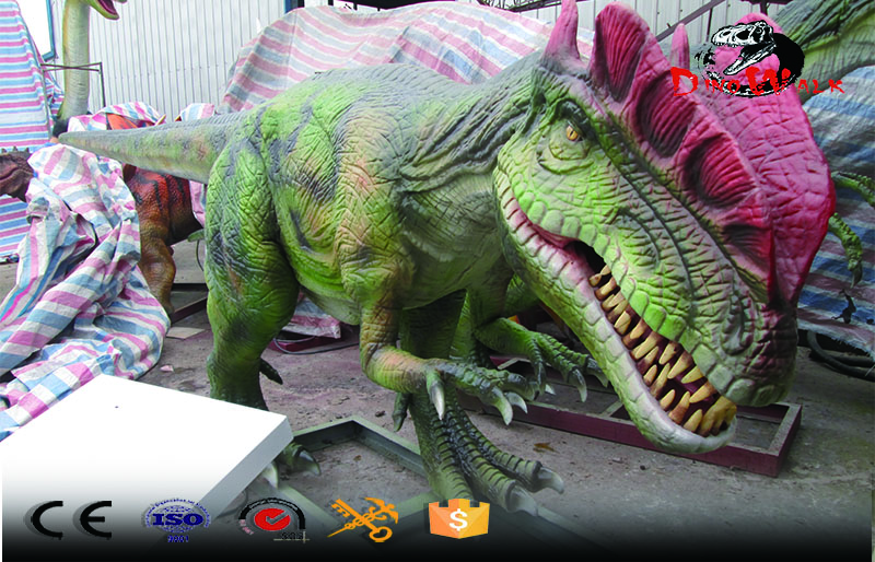 high quality animatronic dinosaur dilophosaurus ride for entertain
