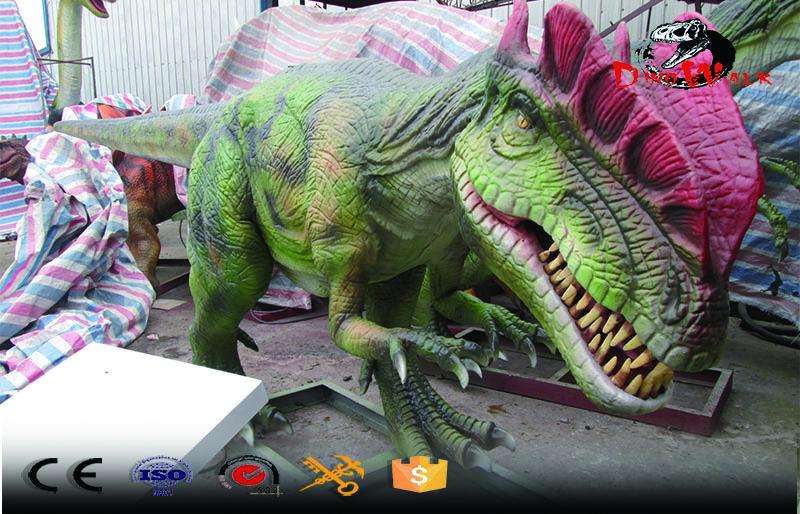 high quality animatronic dinosaur dilophosaurus ride for entertain