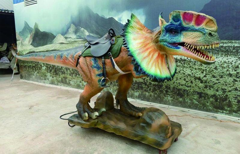 Mechanical hot dinosaurs dilophosaurus rides for sale