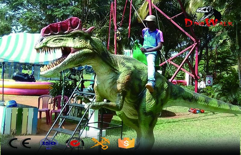 animatronic dinosaur dilophosaurus ride