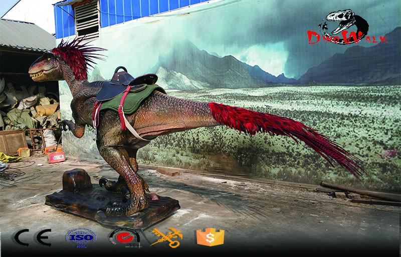 high quality animatrontic riding dinosaur raptor