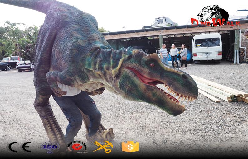 Disfraz de dinosaurio animatronic para show