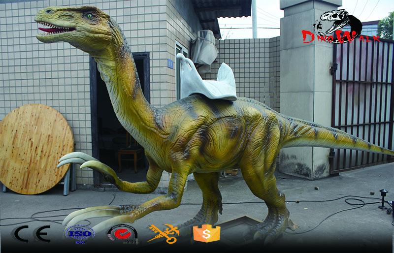Animatronic life size Therizinosaurus ride for amusement park