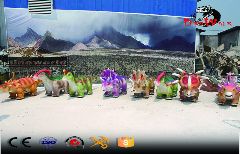 amusment park animatronic dinosaur scooter for kids