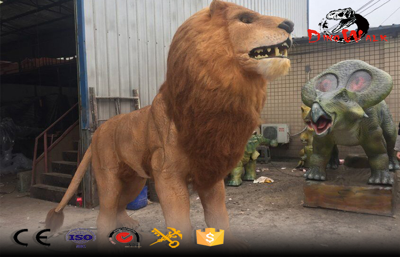 life size animatronic lion simulation animals