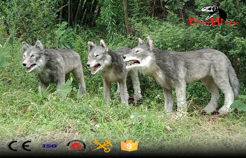 life size animatronic wolf artificial animal model