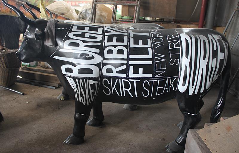 black buffalo statue for steak restaurant