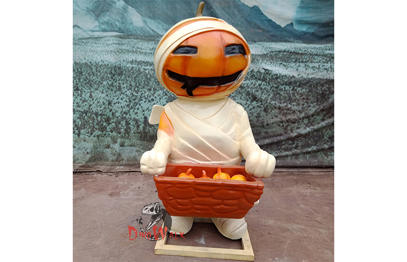 Halloween decoration fiberglass pumpkin mummy