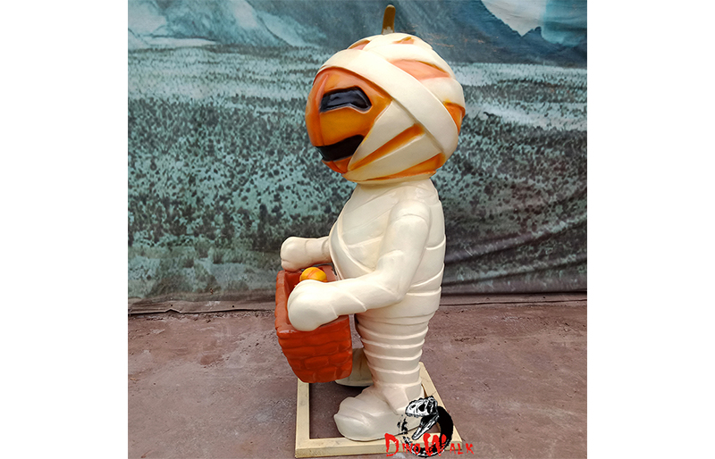 Halloween decoration fiberglass pumpkin mummy