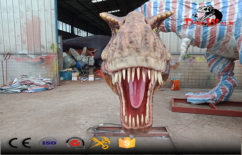 1.5m huge animatronic T-Rax head for amusement park