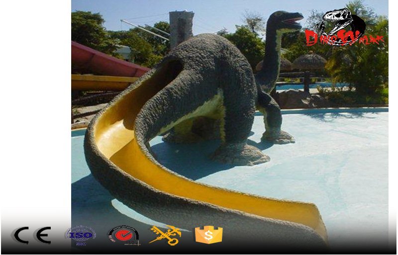 dinosaur shape kid's slide for outdoor intertanment