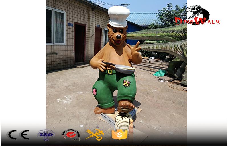 fiberglass statue making pancake bear