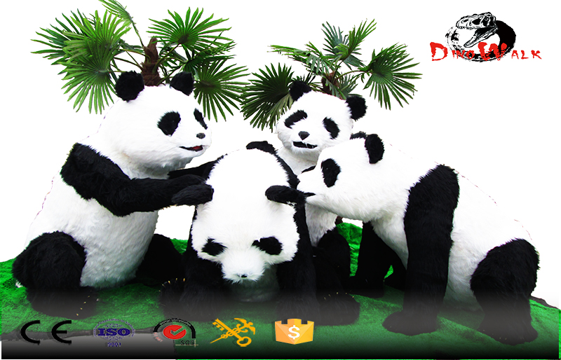 life size aminatronic animal simulation panda bear