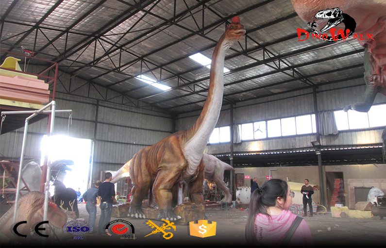 36m Long Big Dinosaur Model Was Sent To America