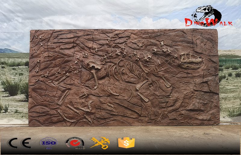 dinosaur fossils archaeological excavation site simulation replicate