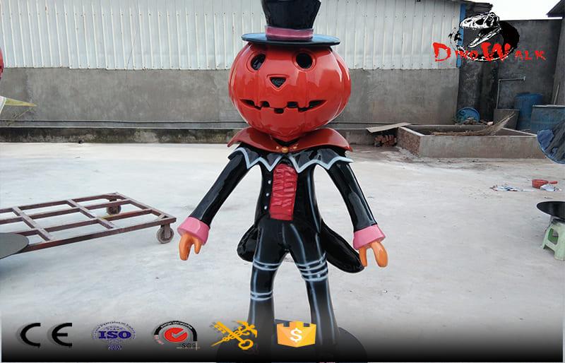 Halloween decoration fiberglass pumpkin magician