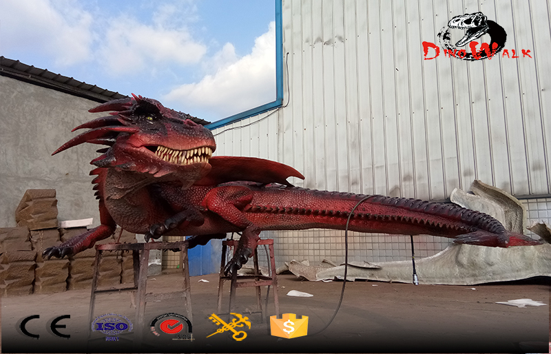 amusement park animated evil dragon from the fairy tale