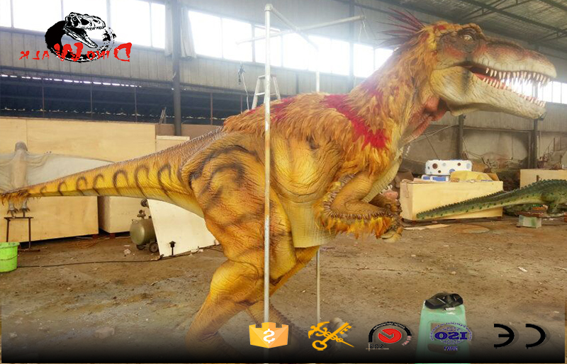 customized high quality dinosaur costumes with feather on the top