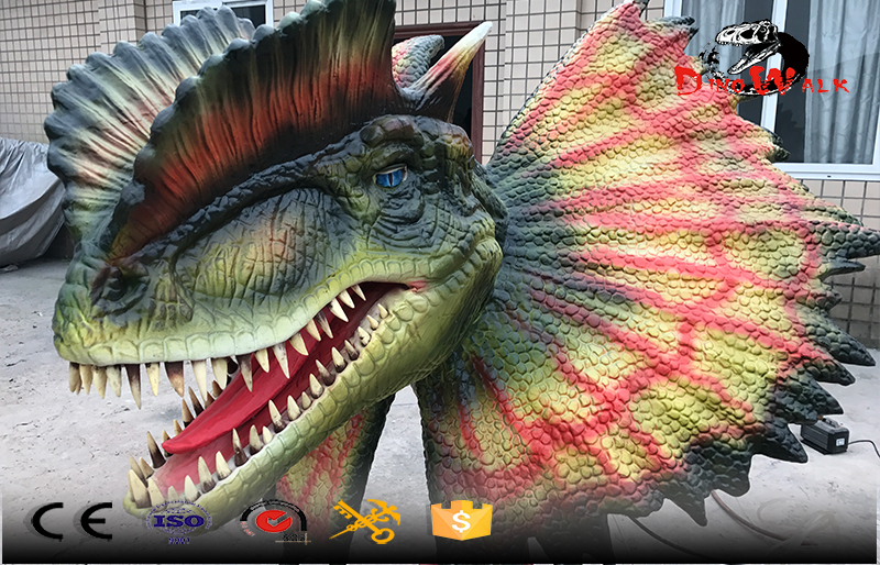 head only animatronic dinosaur with movement and water spray