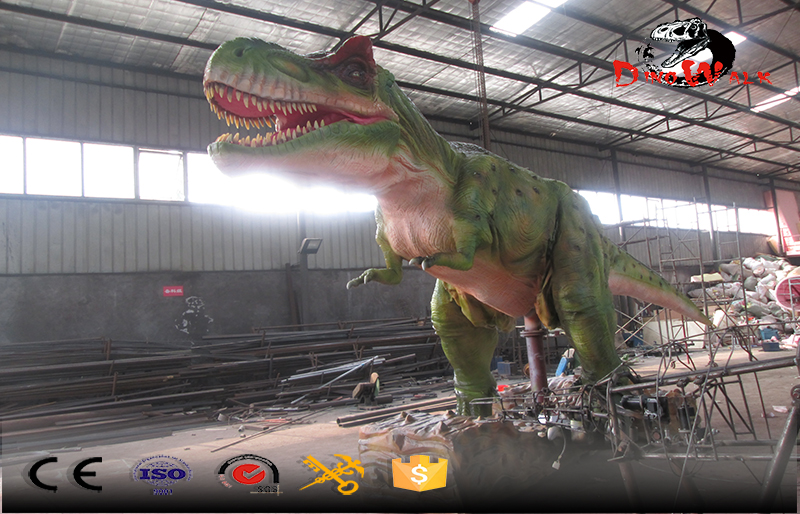 gigantic animatronic T-Rex dinosaur with remote control walking and movement