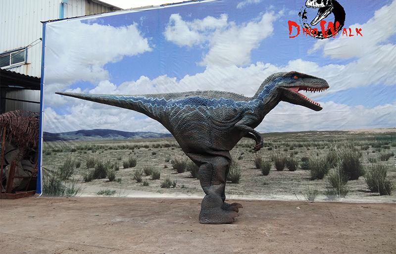 Hidden legs animatronic velociraptor dinosaur costume