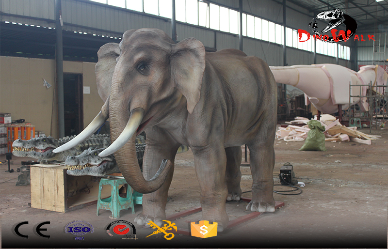 animatronics gray elephant replicate 1/1 size
