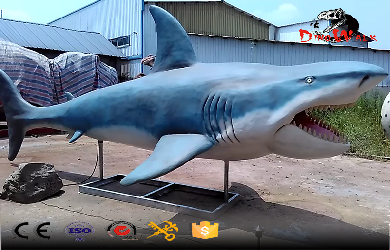 color blue animatronics shark simulation for zoo